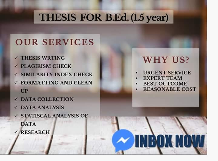 Thesis for B.ed aiou 1.5 year